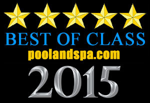 Premium Spas voted best in class 2015 by pool and spa (logo)